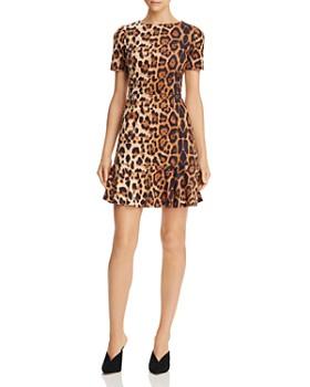 AQUA - Leopard Print Faux-Suede Dress - 100% Exclusive