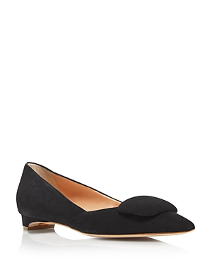 Rupert Sanderson Flats WOMEN'S AGA SUEDE POINTED TOE FLATS