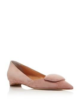 Rupert Sanderson - Women's Aga Suede Pointed Toe Flats