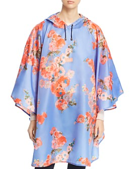 Joules - Floral Packable Poncho