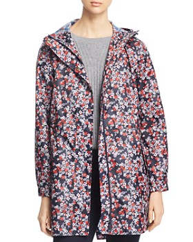 Joules - GoLightly Packable Ditsy Floral Print Raincoat