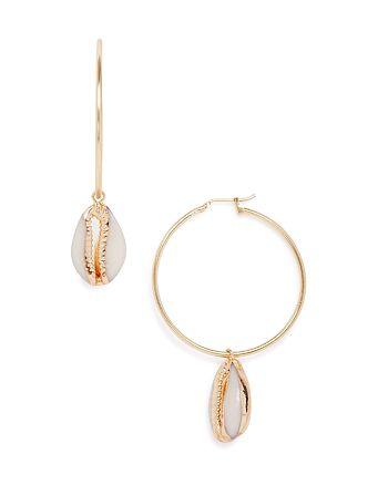 AQUA - Shell Hoop Earrings - 100% Exclusive