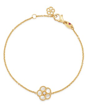 Roberto Coin - 18K Yellow Gold Daisy Mother-of-Pearl & Diamond Chain Bracelet - 100% Exclusive