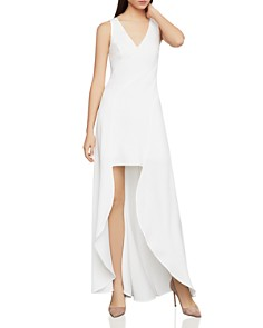 BCBGMAXAZRIA -  Crêpe High/Low Dress