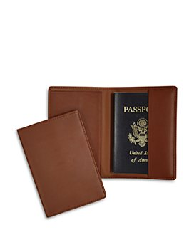 ROYCE New York - Leather RFID-Blocking Protective Passport Case