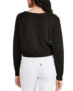 Free People - Cropped V-Neck Sweater
