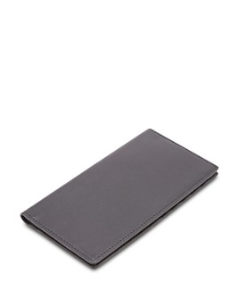 ROYCE New York - Leather RFID-Blocking Checkbook Case & Secretary Wallet