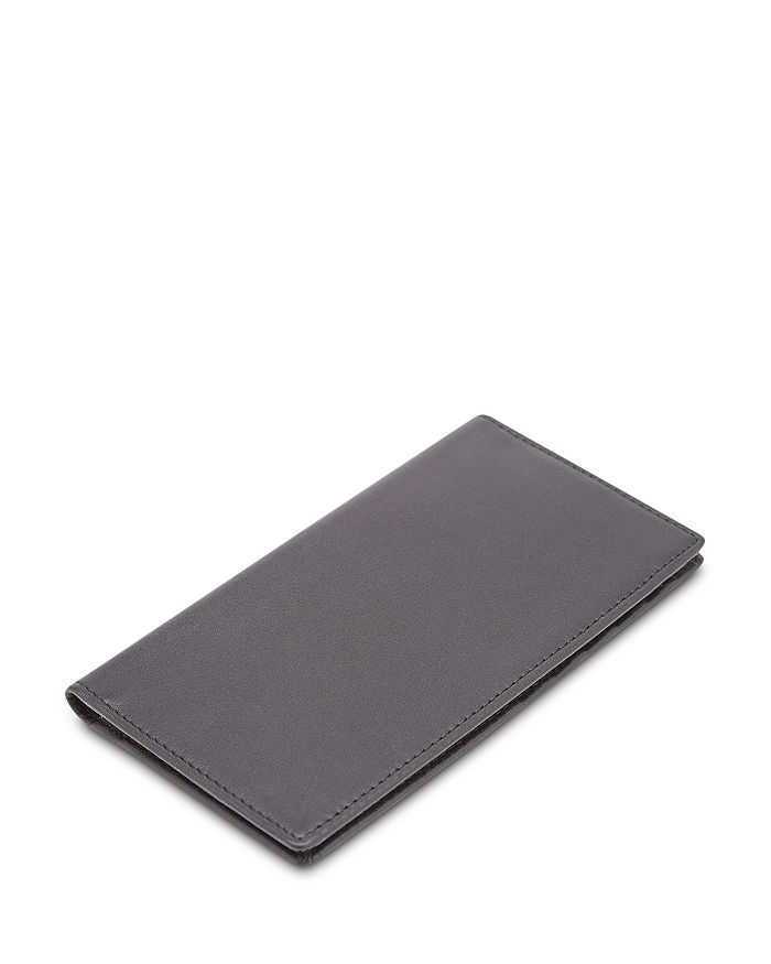 ROYCE New York - Leather RFID-Blocking Checkbook Case & Secretary Wallet