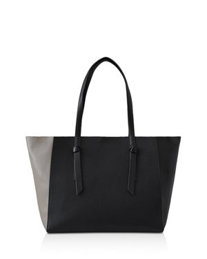 Reiss Kate Color Block Leather Knot Tote