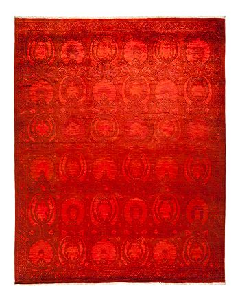 "Solo Rugs - Vibrance Collection Leon Hand-Knotted Area Rug, 8'1"" x 10'1"""
