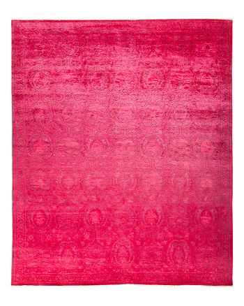 "Solo Rugs - Vibrance Collection Leon Hand-Knotted Area Rug, 9'1"" x 11'1"""