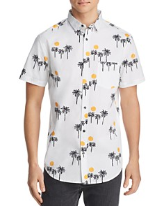 Sovereign Code - Solstice Palm Tree-Print Regular Fit Shirt