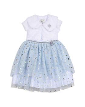 Pippa & Julie - Disney Girls' Frozen Elsa Dress & Short Sleeve Jacket Set - Little Kid, Big Kid