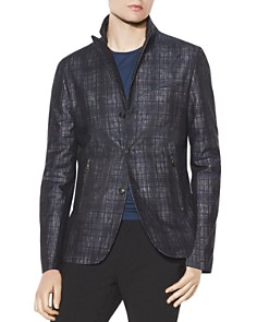 John Varvatos Collection - Plaid Slim Fit Peak Lapel Jacket
