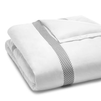 Embroidered Geo Duvet Cover, King   100% Exclusive by Hudson Park Collection