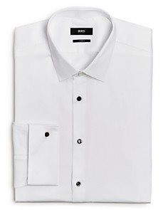 BOSS - Jasper Pique Slim Fit Dress Shirt