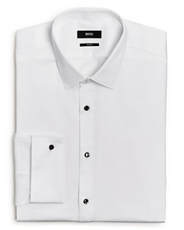 BOSS - Jasper Pique Slim Fit Tuxedo Shirt