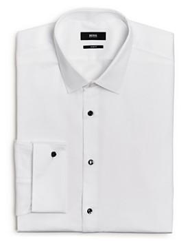 883c0cef9db BOSS - Jasper Pique Slim Fit Tuxedo Shirt ...