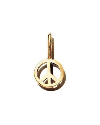Zoë Chicco - 14K Yellow Gold Midi Bitty Peace Charm