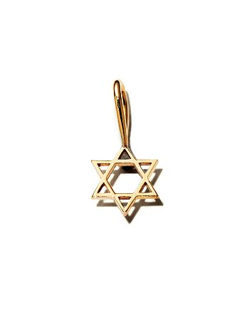 Zoë Chicco - 14K Yellow Gold Midi Bitty Star of David Charm