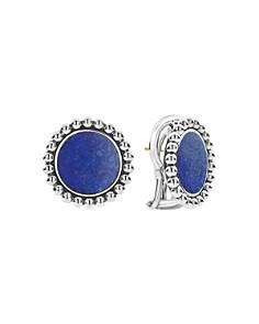 LAGOS - Sterling Silver Maya Lapis Circle Earrings
