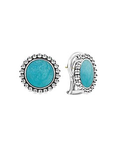 LAGOS - Sterling Silver Maya Turquoise Circle Stud Earrings