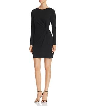 Vero Moda - Smia Long-Sleeve Knot-Front Sheath Dress