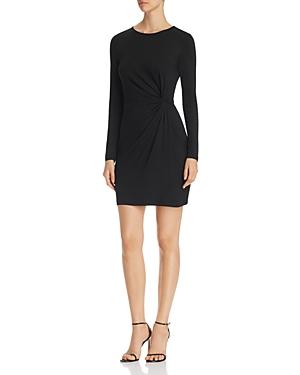 Vero Moda SMIA LONG-SLEEVE KNOT-FRONT SHEATH DRESS