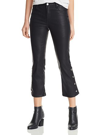 BLANKNYC - Faux Leather Cropped Flared Pants