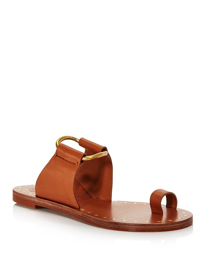 Tory Burch - Women's Ravello Studded Leather Slide Sandals