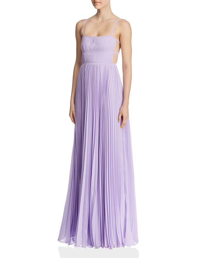 Fame and Partners - Erina Pleated Cutout Gown