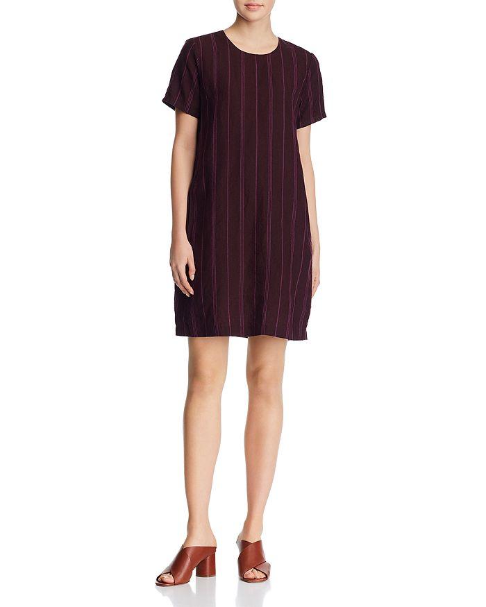 d700df992b7 Eileen Fisher Petites - Striped Organic Linen Shift Dress - 100% Exclusive