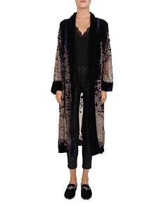 The Kooples - Beaded Floral Velvet Burnout Kimono