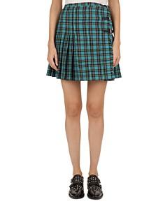 The Kooples - Pleated Plaid Mini Skirt