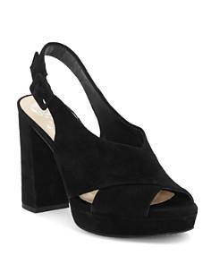 VINCE CAMUTO - Women's Javasan Peep Toe Suede Platform Sandals
