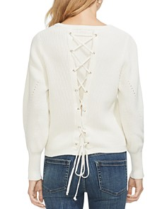 VINCE CAMUTO - Lace-Up Back Sweater
