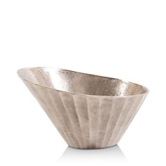 Howard Elliott - Silver Chiseled Metal Bowl