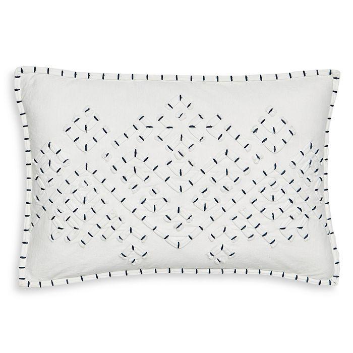 "Splendid - Appliqued Jersey Decorative Pillow, 12"" x 18"""
