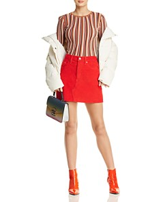 Levi's - Deconstructed Corduroy Mini Skirt in Red