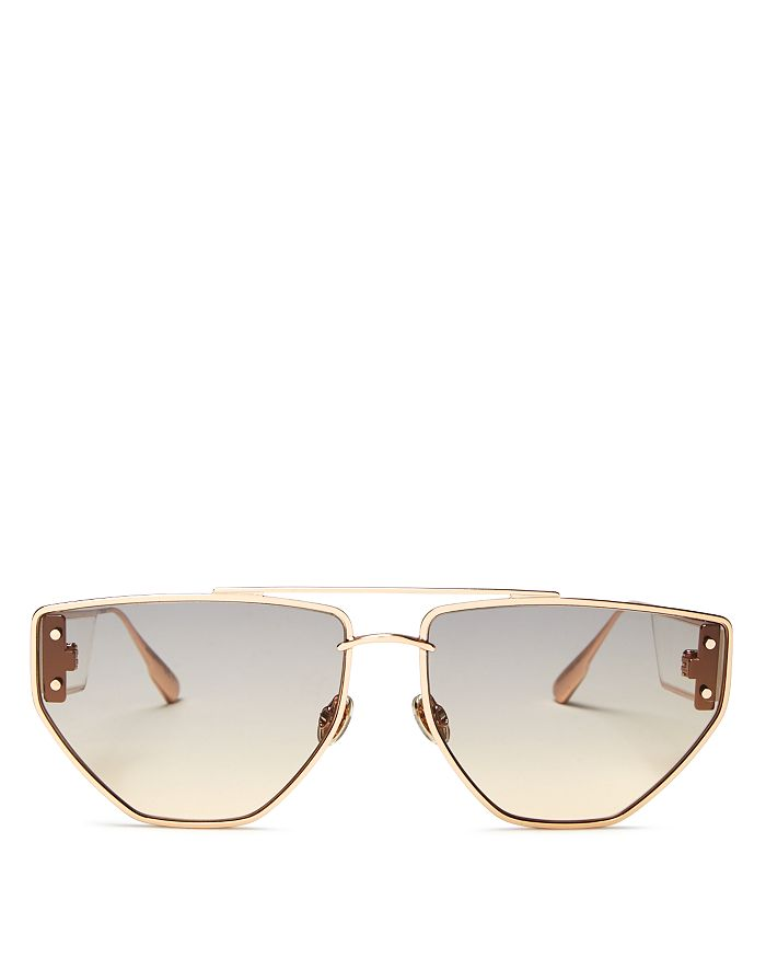 Dior - Women's  Clan2 Brow Bar Geometric Sunglasses, 61mm