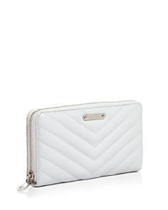 Rebecca Minkoff - Edie Quilted Leather Zip Wallet