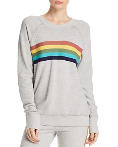 Sundry - Rainbow-Stripe Sweatshirt