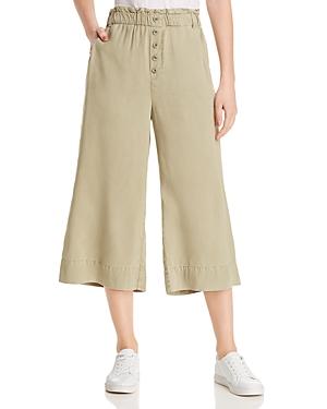 Bella Dahl Pants CROPPED WIDE-LEG PANTS