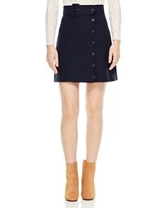 Sandro - Laurene Belted Skirt