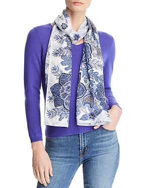 Echo FLORAL PAISLEY SILK OBLONG SCARF