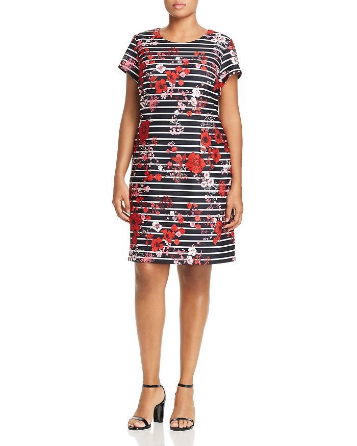 Adrianna Papell Plus - Graphic Printed Shift Dress
