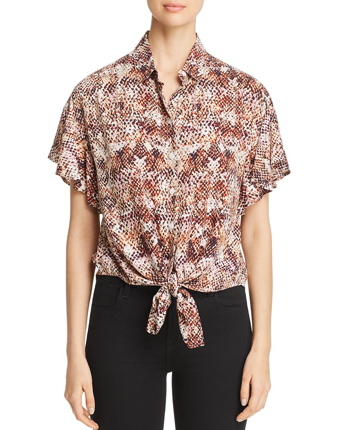 BeachLunchLounge - Snake Print Tie Front Top - 100% Exclusive