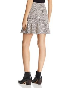Lucy Paris - Ruched Dot Print Mini Skirt