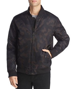 Pacific & Park - Camouflage-Print Bomber Puffer Jacket- 100% Exclusive