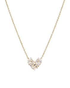 Nadri - Valentine's Day Cluster Heart Necklace, 16""